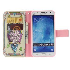 Standy peněženkové pouzdro na Samsung Galaxy J5 - sova - 7