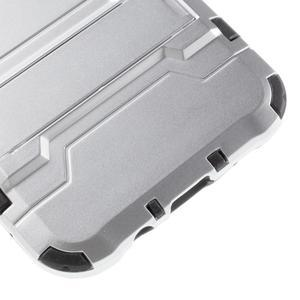 Odolný kryt 2v1 se stojánkem na Samsung Galaxy J5 - stříbrný - 7