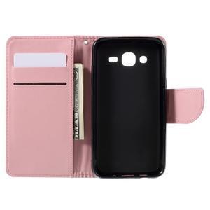 Peňaženkové puzdro pre mobil Samsung Galaxy J5 - ružové - 7