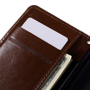 Peňaženkové puzdro pre mobil Samsung Galaxy J5 - hnedé - 7