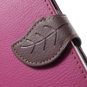 Leaf peňaženkové puzdro pre Samsung Galaxy J5 - rose - 7