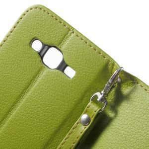 Leaf peňaženkové puzdro pre Samsung Galaxy J5 - zelené - 7