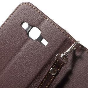 Leaf peňaženkové puzdro pre Samsung Galaxy J5 - hnedé - 7