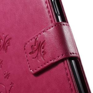 Butterfly PU kožené puzdro pre Samsung Galaxy J5 - rose - 7