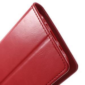Mercury PU kožené puzdro pre mobil Samsung Galaxy J5 - červené - 7