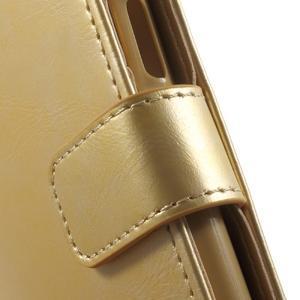 Mercury PU kožené puzdro pre mobil Samsung Galaxy J5 - zlaté - 7