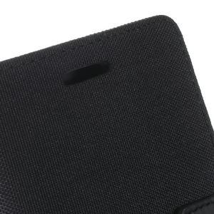 Luxury textilní/pu kožené pouzdro na Samsung Galaxy J5 - černé - 7