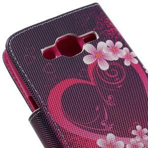 Dairy peňaženkové puzdro pre Samsung Galaxy J5 - srdca - 7