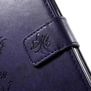 Butterfly PU kožené puzdro pre Samsung Galaxy J5 - fialové - 7