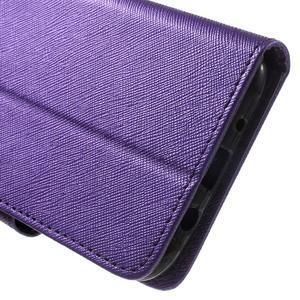 Crossy koženkové pouzdro na Samsung Galaxy J5 - fialové - 7