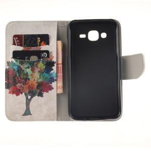 Standy peněženkové pouzdro na Samsung Galaxy J5 - barevný strom - 7
