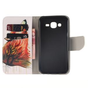 Standy peněženkové pouzdro na Samsung Galaxy J5 - lesní vlk - 7