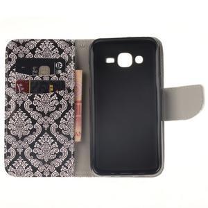 Standy peňaženkové puzdro pre Samsung Galaxy J5 - retro totem - 7