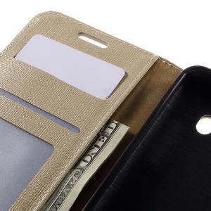 Cloth PU kožené pouzdro na Samsung Galaxy J5 (2016) - champagne - 7