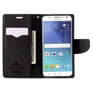 Diary PU kožené puzdro pre mobil Samsung Galaxy J5 (2016) - čierne - 7