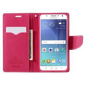 Diary PU kožené puzdro pre mobil Samsung Galaxy J5 (2016) - ružové - 7