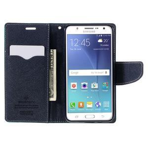 Diary PU kožené puzdro pre mobil Samsung Galaxy J5 (2016) - azúrové - 7