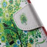 Nice peňaženkové puzdro pro Samsung Galaxy J5 (2016) - vtáčie strom - 7/7