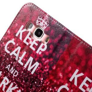 Nice peněženkové pouzdro pro Samsung Galaxy J5 (2016) - Keep Calm - 7