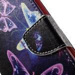 Nice peňaženkové puzdro pro Samsung Galaxy J5 (2016) - čarovné motýle - 7/7