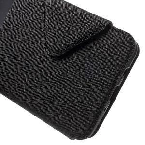 Knížkové puzdro s okienkom pre Samsung Galaxy J5 (2016) - čierne - 7