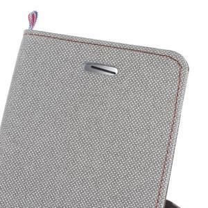 Denim peňaženkové puzdro pre Samsung Galaxy J5 (2016) - šedé - 7
