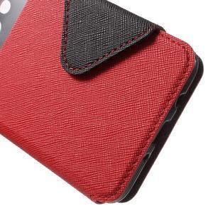 Knížkové pouzdro s okýnkem na Samsung Galaxy J5 (2016) - červené - 7