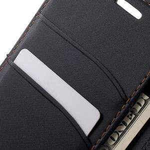 Gentle PU kožené peňaženkové puzdro pre Samsung Galaxy J5 (2016) - čierne - 7