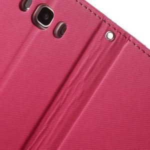 Gentle PU kožené peňaženkové puzdro pre Samsung Galaxy J5 (2016) - rose - 7