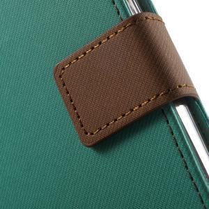 Gentle PU kožené peňaženkové puzdro pre Samsung Galaxy J5 (2016) - zelenomodré - 7
