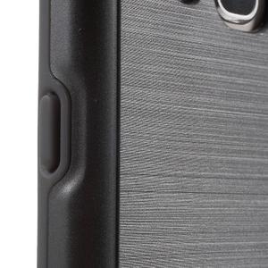 Gélový obal s plastovou výstuhou pre Samsung Galaxy J5 (2016) - šedý - 7