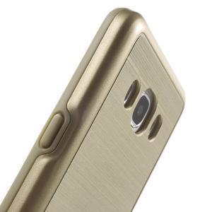 Gélový obal s plastovou výstuhou pre Samsung Galaxy J5 (2016) - zlatý - 7