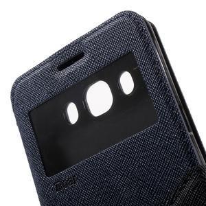 Knížkové puzdro s okienkom pre Samsung Galaxy J5 (2016) - tmavomodré - 7