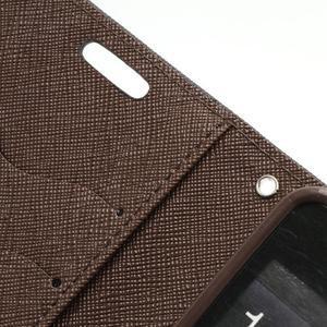 Diary PU kožené puzdro pre mobil Samsung Galaxy S2 - čierne/hnedé - 7
