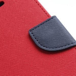 Diary PU kožené pouzdro na mobil Samsung Galaxy S2 - červené - 7