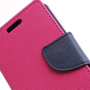 Diary PU kožené puzdro pre mobil Samsung Galaxy S2 - rose - 7