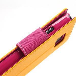 Diary PU kožené puzdro pre mobil Samsung Galaxy S2 - žlté - 7