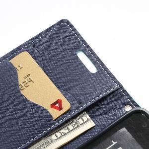 Diary PU kožené puzdro pre mobil Samsung Galaxy S2 - azúrové - 7