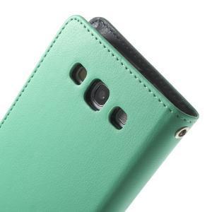 RichDiary PU kožené pouzdro na Samsung Galaxy S3 - azurové - 7