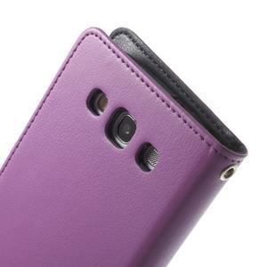 RichDiary PU kožené pouzdro na Samsung Galaxy S3 - fialové - 7