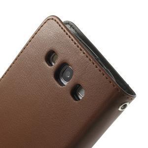 RichDiary PU kožené pouzdro na Samsung Galaxy S3 - hnědé - 7