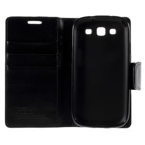 Diary PU kožené puzdro pre mobil Samsung Galaxy S3 - čierne - 7