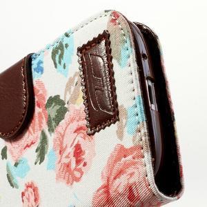 Květinové pouzdro na mobil Samsung Galaxy S3 - bílé poazdí - 7