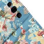 Kvetinové puzdro pre mobil Samsung Galaxy S3 - modré pozadie - 7/7