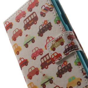 Knížečkové puzdro pre Samsung Galaxy S3 - autíčka - 7