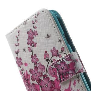 Knížečkové puzdro pre Samsung Galaxy S3 - kvitnúca vetvička - 7