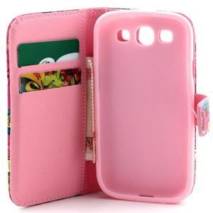 Knížkové puzdro pre mobil Samsung Galaxy S3 - sova - 7