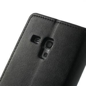 Diary PU kožené puzdro pre Samsung Galaxy S3 mini - čierne - 7