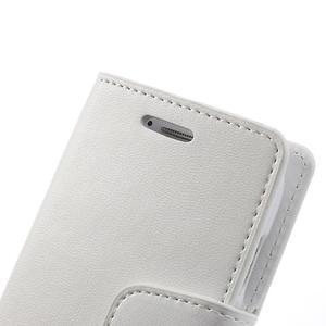 Diary PU kožené pouzdro na Samsung Galaxy S3 mini - bílé - 7