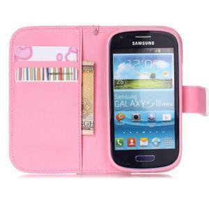 Knížkové PU kožené puzdro pre Samsung Galaxy S3 mini - motýle - 7